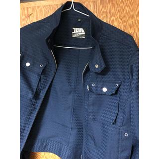 トライチ(寅壱)の寅壱 7260 ライダースジャケット 青Lサイズ(ブルゾン)