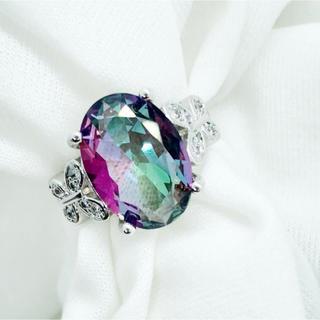 s925  虹色CZダイヤモンド シルバーリング(リング(指輪))