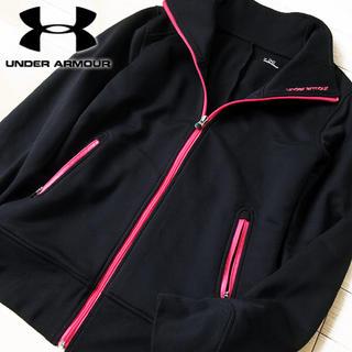 UNDER ARMOUR - 美品 Lサイズ アンダーアーマー レディース ジップアップジャケット ブラック