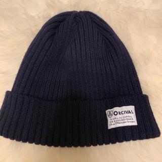 ORCIVAL - ORCIVAL オーシバル オーチバル ウール100 ニット帽 ネイビー