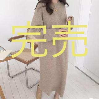 Mila Owen - 【新作】importロングニットワンピース ラウンドネック  ゆったり着れる
