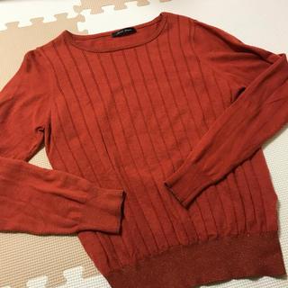 オレンジ セーター(ニット/セーター)