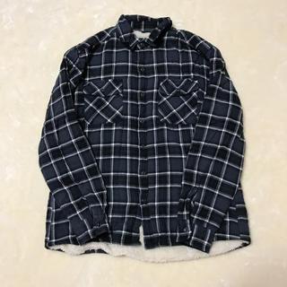 しまむら - チェック柄裏モコシャツ