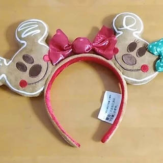 Disney - 新品 ミッキー&ミニー柄クリスマスジンジャーブレッド キャンディカチューシャ