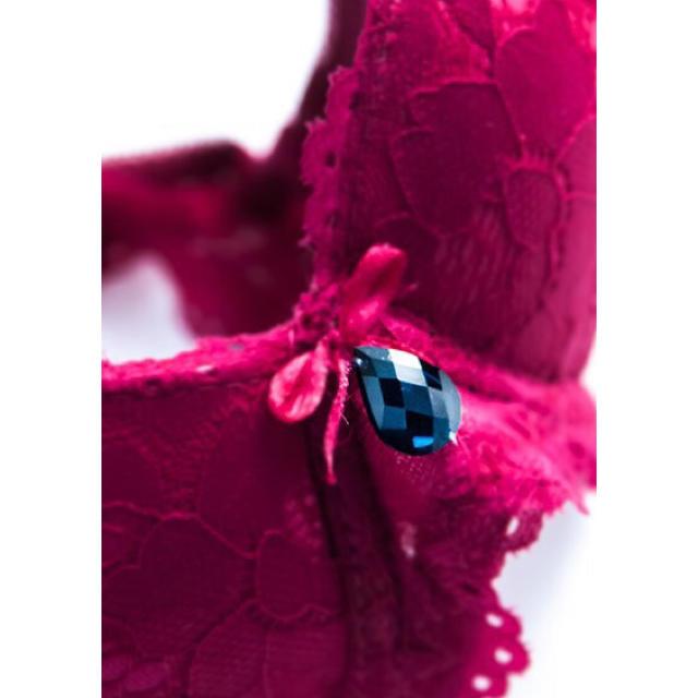 C〜Fカップ♡かわいい深紅のブラショーツセット♡送料無料 レディースの下着/アンダーウェア(ブラ&ショーツセット)の商品写真