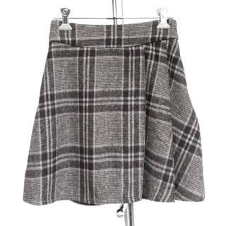 リップサービス(LIP SERVICE)のリップサービス■片側プリーツ起毛スカート(ミニスカート)