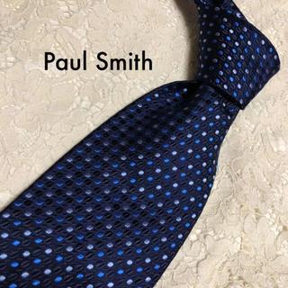 ポールスミス(Paul Smith)の極美品‼ Paul Smith ネクタイ シルク ネイビー ドット 大人気‼(ネクタイ)