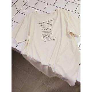snidel - ❤️完売品❤️ スナイデル ドローイングロゴTシャツ オフホワイト 白 ♡
