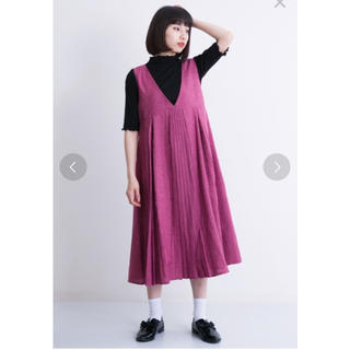 merlot - メルロー タックプリーツジャンパースカート