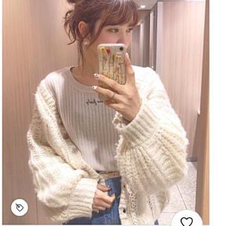 新品 one after another NICE CLAUP  ロゴリブニット