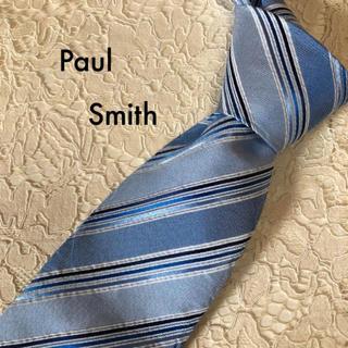 ポールスミス(Paul Smith)の美品‼ Paul Smith ネクタイ シルク ブルー ストライプ 大人気‼(ネクタイ)
