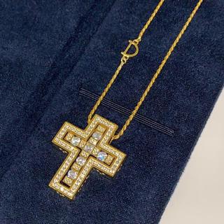 Damiani - 22k plating cz diamond original necklace