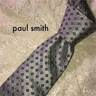ポールスミス(Paul Smith)のpaul smith ネクタイ シルク シルバー クレスト 大人気‼(ネクタイ)