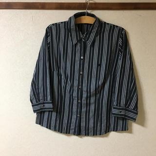 BURBERRY - ●バーバリー ストライプシャツ 七分袖    サイズ15