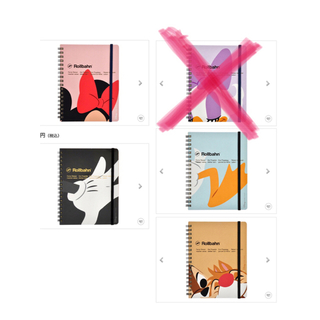 ミニーマウス(ミニーマウス)の【新品】Rollbahn×Disneyノート(ノート/メモ帳/ふせん)