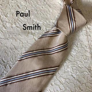 ポールスミス(Paul Smith)のPaul Smith ネクタイ シルク ベージュ ストライプ 大人気‼(ネクタイ)