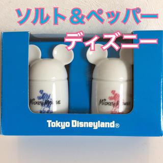 Disney - ディズニーランド購入の品 ミッキーマウス塩胡椒入れ 未使用品 しお・こしょう入れ