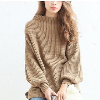 dholic - 人気のゆる可愛いニット セーター トップス プチハイネック