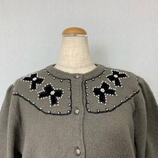 ●S420 used ribbon knit cardigan(カーディガン)