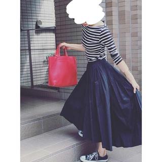 ジーユー(GU)のGU フィッシュテールスカート XLサイズ 美品 黒(ロングスカート)