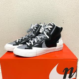 NIKE - Nike Sacai Blazer Mid Black 27.5
