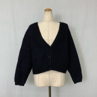 ●S423 used simple knit cardigan(カーディガン)