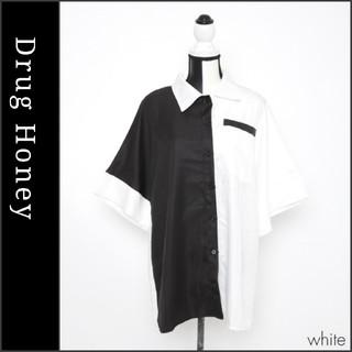 FUNKY FRUIT - 【DrugHoney】配色ポケット付きビックシャツ ホワイト ドラッグハニー