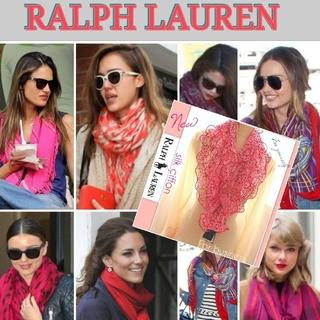 新品 セール★ラルフローレン スカーフ 若返りお顔が綺麗に映るお色  美しい女性
