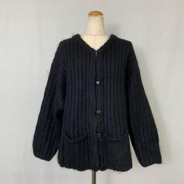 ●S424 used mohair mix knit cardigan レディースのトップス(カーディガン)の商品写真