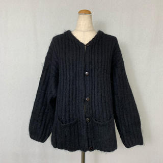 ●S424 used mohair mix knit cardigan(カーディガン)