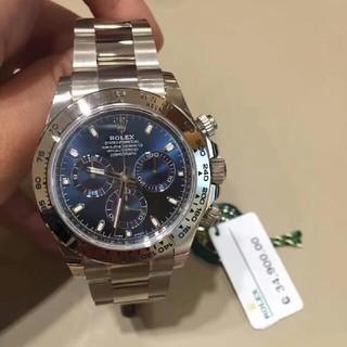 ROLEX - Rolexロレックスディ通はプラチナブルー機械男子時計を持っています。