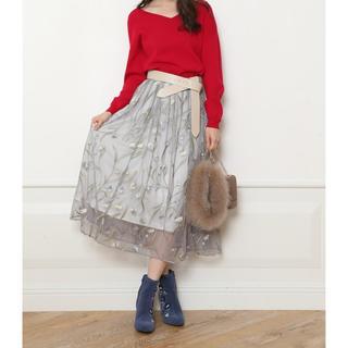 Mystrada - 3日間限定値下げ中【新品】石原さとみ着用♡マイストラーダ チュール刺繍スカート