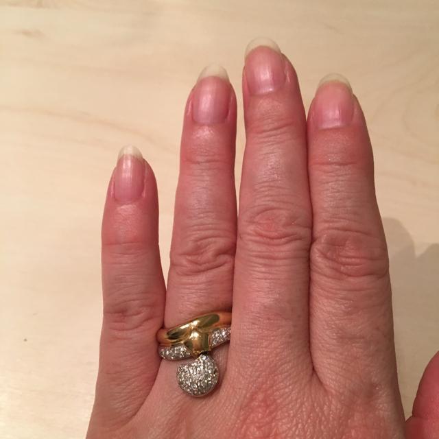 由梨 様  専用 ❗️❗️k18  ☆  ダイヤモンドリング レディースのアクセサリー(リング(指輪))の商品写真