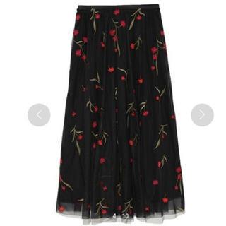 ミラオーウェン(Mila Owen)のmilaowen 刺繍チュールロングスカート(ロングスカート)