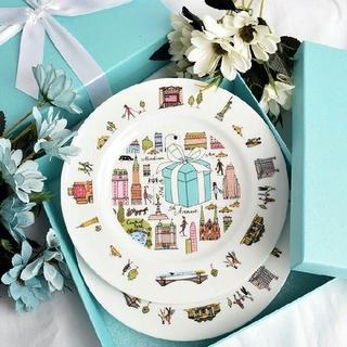 ティファニー(Tiffany & Co.)の【TIFFANY&CO.】ティファニー5THアベニューデザートプレートペアセット(食器)