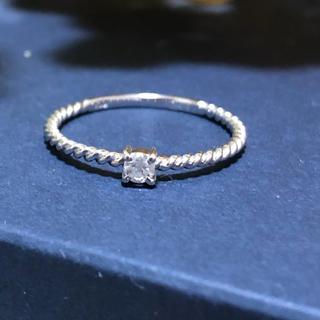 K10 天然ダイヤモンド ツイスト リング(リング(指輪))