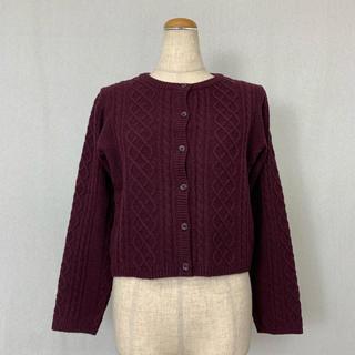 ●S427 used simple knit cardigan(カーディガン)