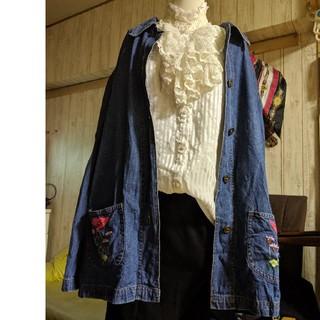 サンタモニカ(Santa Monica)のused古着ビックシルエット刺繍デニムコート(デニム/ジーンズ)