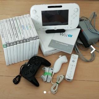 ウィーユー(Wii U)のWiiU 32GB 本体 +ソフト10本セット(家庭用ゲーム機本体)