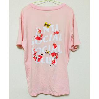 アンチ(ANTI)のASSC LOGO TEE   color:ピンク(Tシャツ/カットソー(半袖/袖なし))