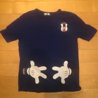 ベルメゾン(ベルメゾン)のベルメゾン Disney Mickey  サッカー 日本代表 Tシャツ Lサイズ(ウェア)