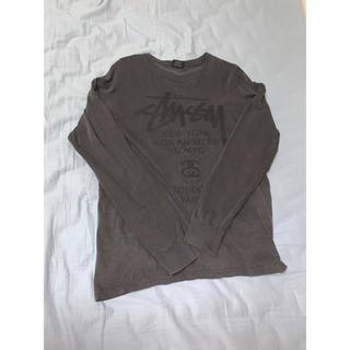 ステューシー(STUSSY)のSTUSSY ロンT グレー(Tシャツ/カットソー(七分/長袖))