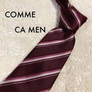 COMME CA MEN - 美品!COMME CA MEN シルク ネクタイ ストライプ 大人気!