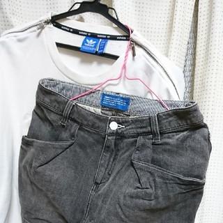 アディダス(adidas)のアディダス トレーナーとスカート(トレーナー/スウェット)