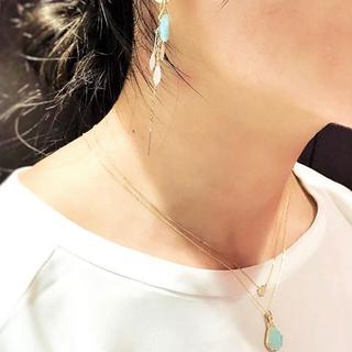 アガット(agete)の【agete】パヴェセッティング ダイヤ ネックレス(ネックレス)
