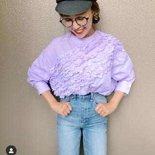 baybeeフリルブラウスslantingdesign frill blouse