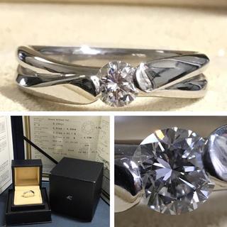 4℃ - 4°C VVS-1 Fカラー VERY GOOD 0.25ctダイヤモンドリング