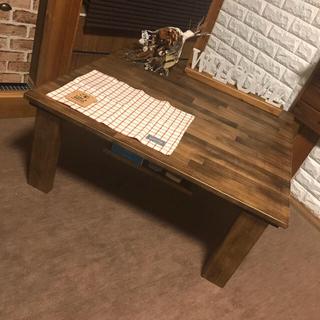 【新商品4大特典付き】収納ボックス付き木製折りたたみセンターローテーブル(ローテーブル)