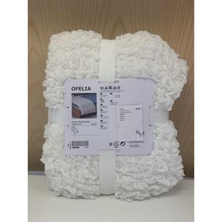 IKEA - OFELIA オフェーリア 毛布, ホワイト