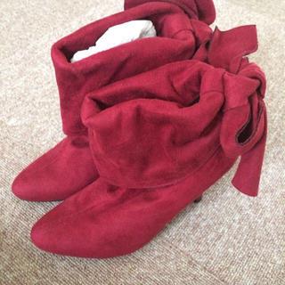 スエードショートブーツ  (ブーツ)